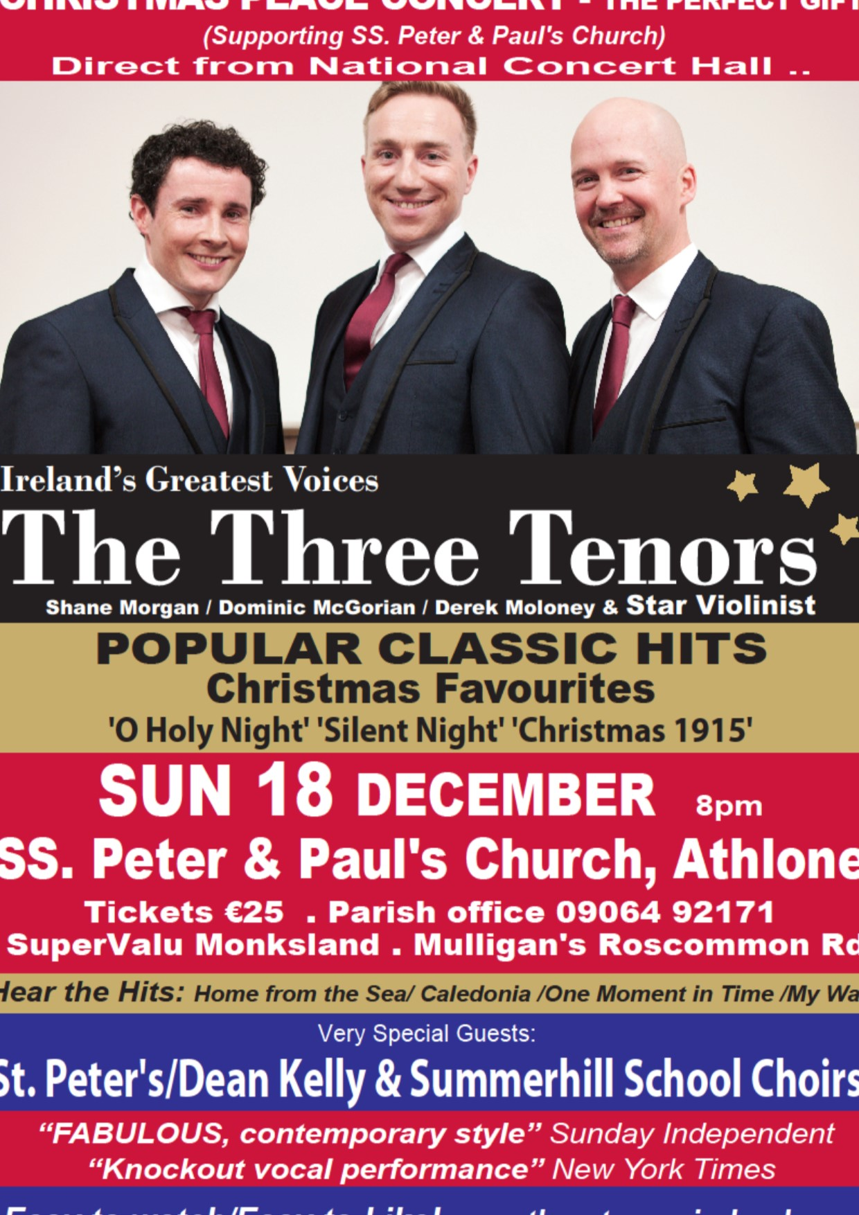 The Three Tenors – Christmas Peace Concert – Parish of Ss. Peter ...