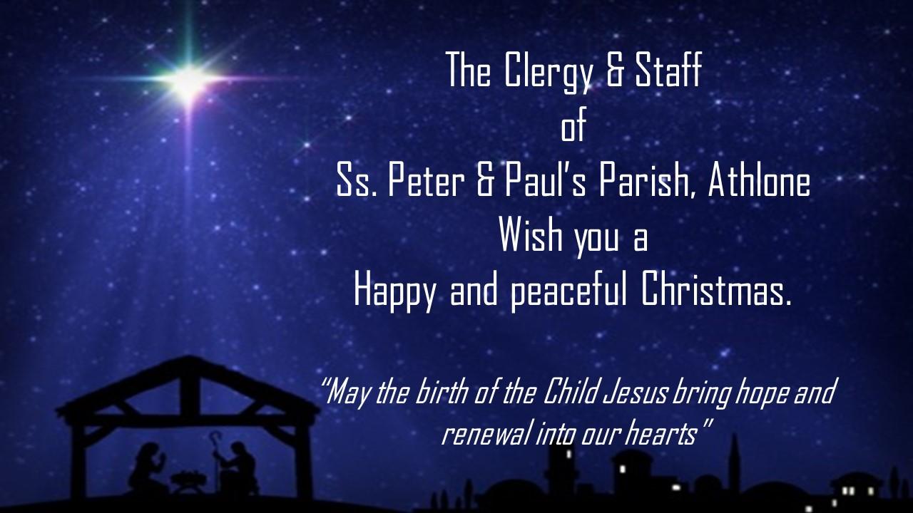 Christmas Greetings Parish Of Ss Peter Paul