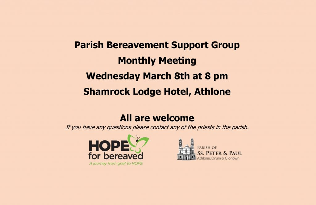 Parish Bereavement Support Group @ Shamrock Lodge Hotel