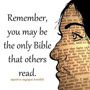 you may be the only bible