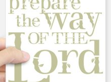 prepare_the_way_of_the_lord_square_sticker_3_x_3